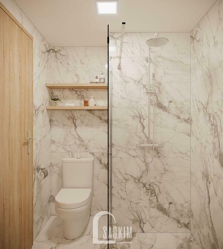 Không gian phòng tắm sạch sẽ, thoáng mát.