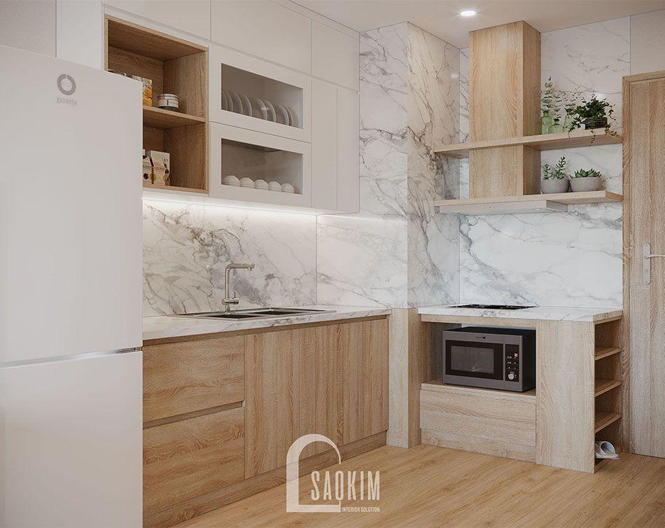 Thiết kế nội thất phòng bếp hiện đại, sang trọng