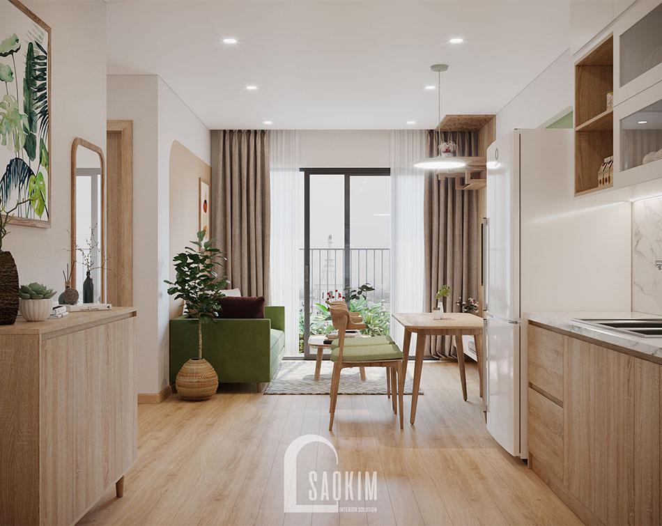 Mẫu căn hộ Vinhomes Smart City đẹp với phong cách thiết kế Color Block