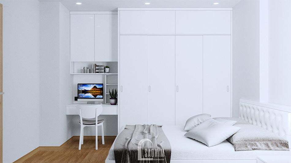 Không gian phòng ngủ phóng khoáng, tươi mới