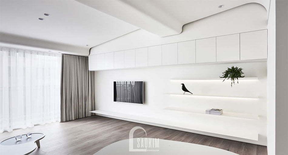 <em>Mẫu thiết kế chung cư phong cách tối giản Vinhomes Green Bay 45m2</em>