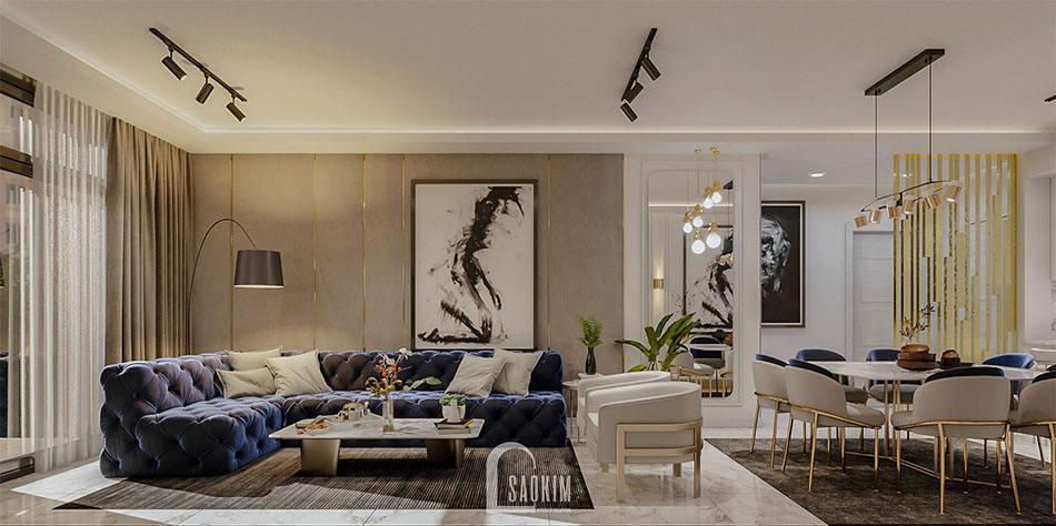 <em>Mẫu thiết kế nội thất biệt thự 2 tầng đẹp 240m2 ở Hải Phòng</em>