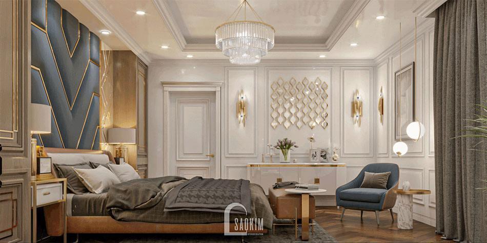 Không gian phòng ngủ mang vẻ đẹp sang trọng, tinh tế