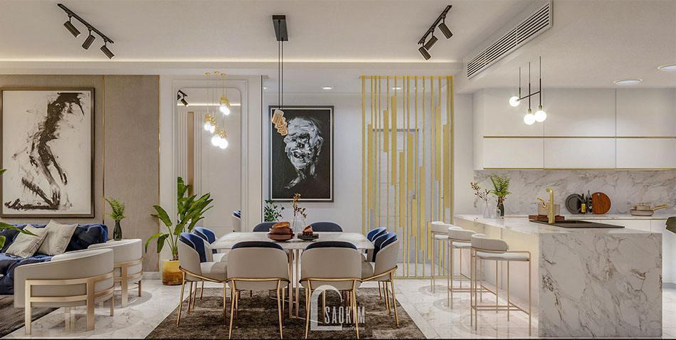 Không gian phòng khách tươi mới, tràn đầy sức sống