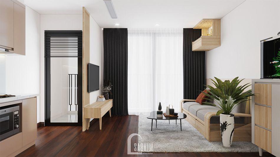 Không gian phòng khách tươi mới, rộng thoáng