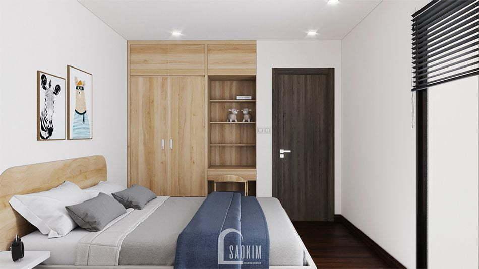 Không gian phòng ngủ 2 mang đậm thiết kế phong cách tối giản