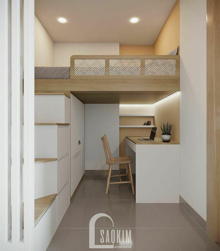 Mẫu thiết kế căn hộ 1 phòng ngủ + 1 chung cư Vinhomes Smart City với phòng đa năng tiện nghi