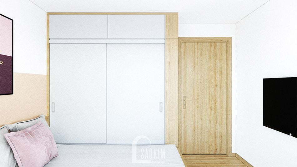 Thiết kế căn hộ 2 phòng ngủ chung cư Vinhomes Smart City