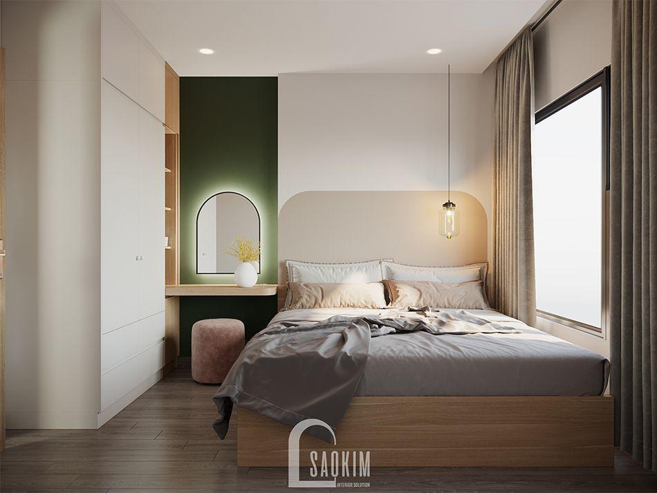 Không gian phòng ngủ Master mang đậm phong cách Color Block
