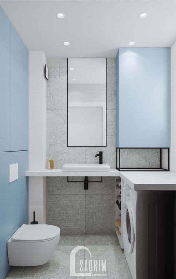 Không gian phòng tắm 2 trong mẫu thiết kế căn hộ 71m2 Tòa tháp Thiên Niên Kỷ