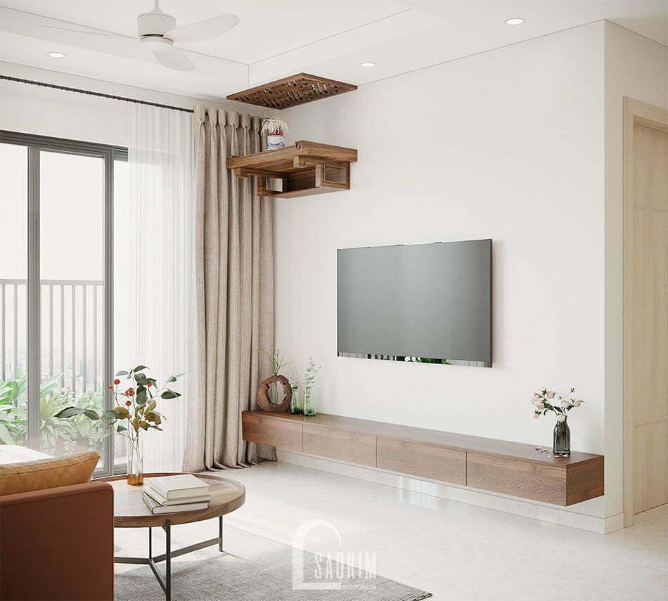 Mẫu thiết kế căn hộ đẹp 87m2 chung cư PCC1 Thanh Xuân