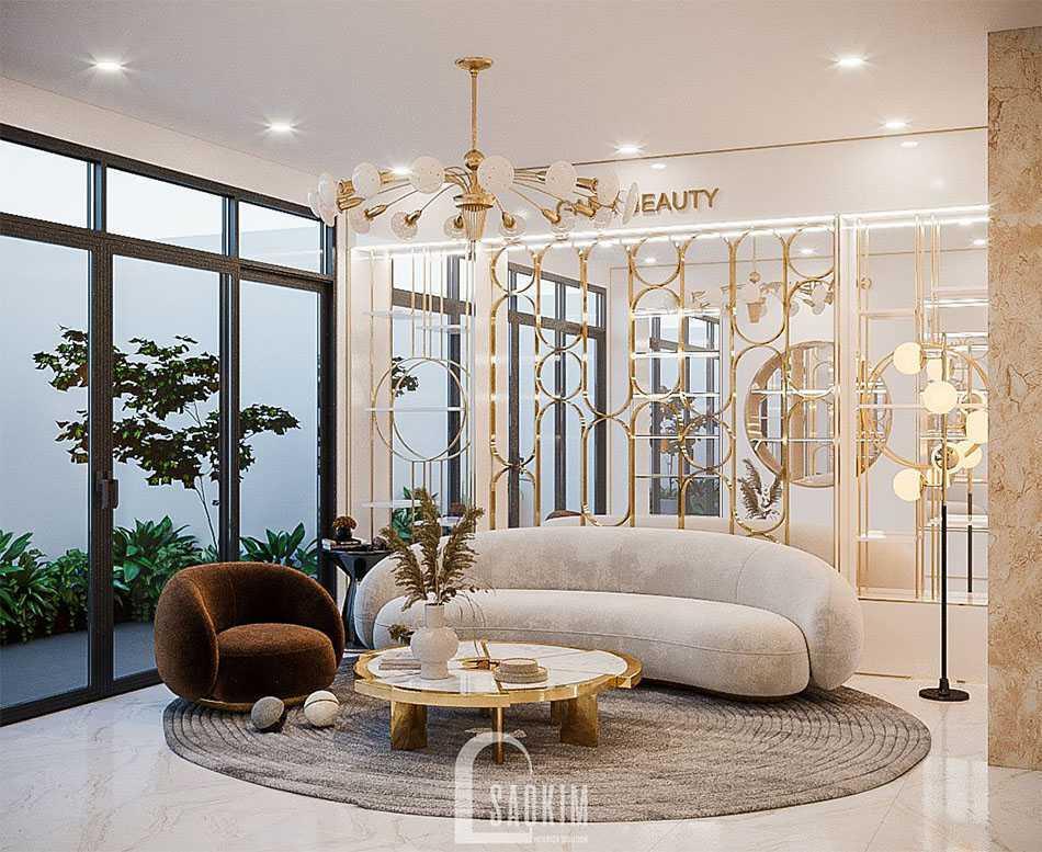 Mẫu thiết kế sofa cong đẹp nhất cho phòng khách hiện nay