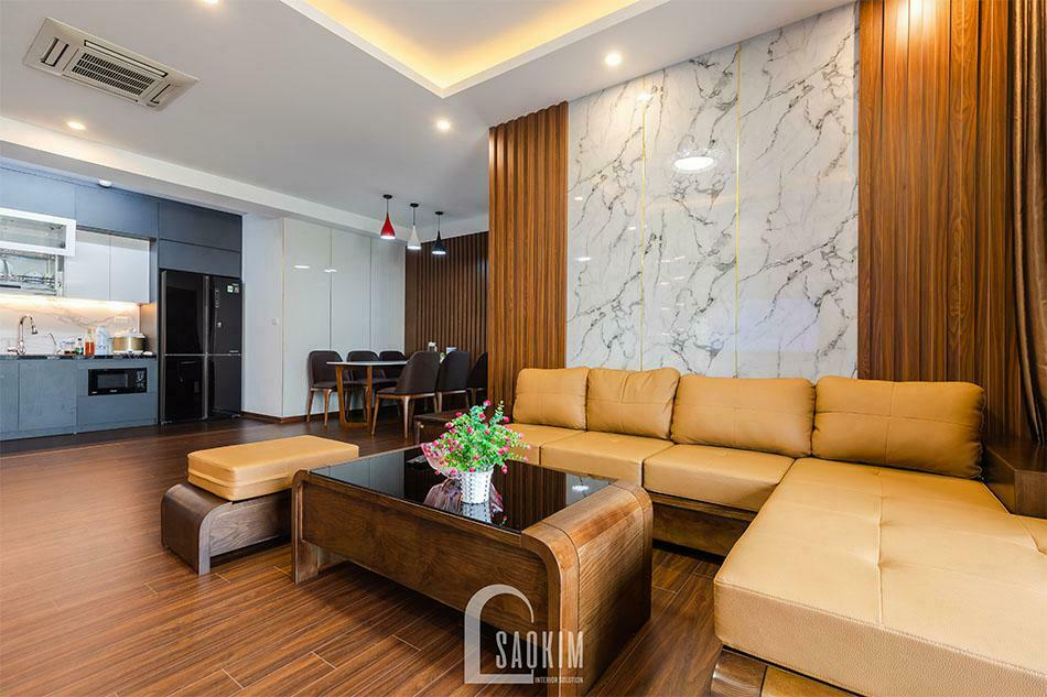 Mẫu bàn ghế sofa gỗ tự nhiên đẹp với kiểu dáng đơn giản, sang trọng hợp với phòng khách nhà phố hiện đại