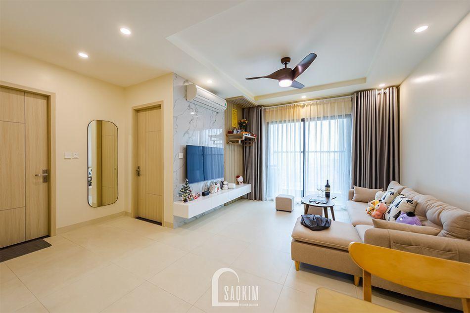 Thiết kế nội thất nhà chung cư đẹp 80m2 với không gian mở rộng thoáng, tươi mới và tràn đầy sức sống