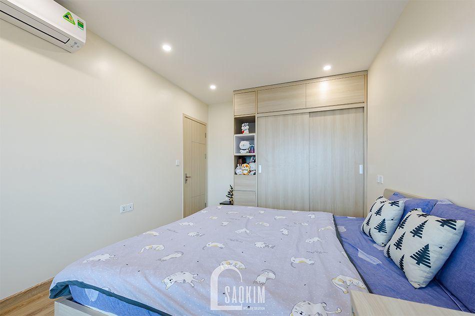 Phòng ngủ Master lựa chọn nội thất tối giản, tinh tế