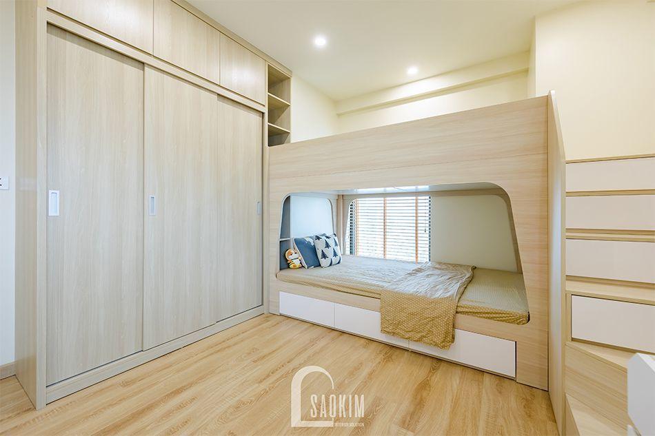 Không gian phòng ngủ rộng thoáng, tươi mới