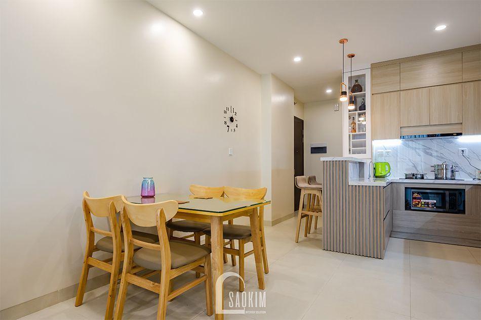 Hoàn thiện nội thất phòng ăn nhà chung cư đẹp 80m2 PCC1 Thanh Xuân