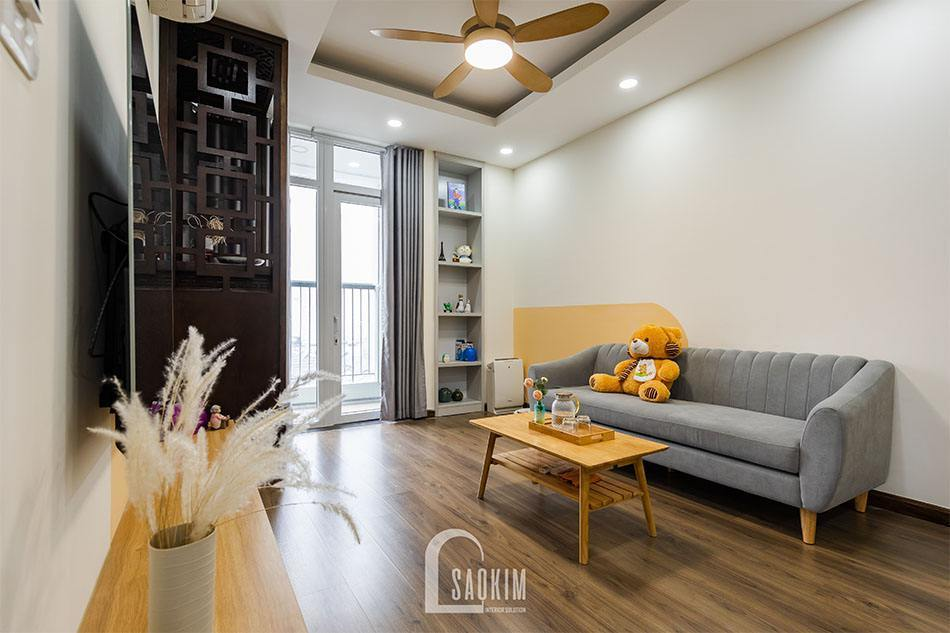 Hoàn thiện thiết kế thi công phòng khách căn hộ khu đô thị Nam Trung Yên