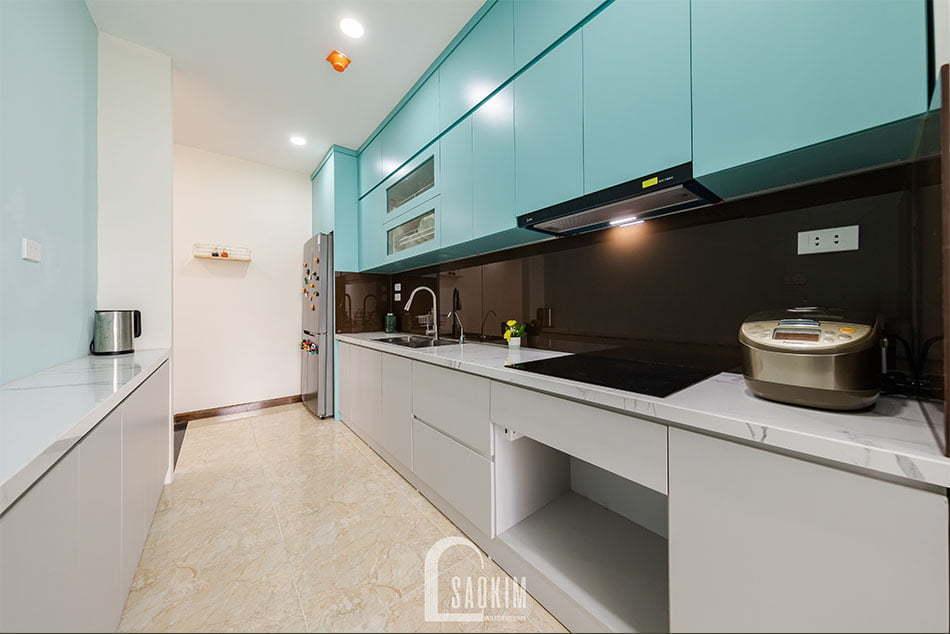 Hoàn thiện thi công phòng bếp căn hộ khu đô thị Nam Trung Yên