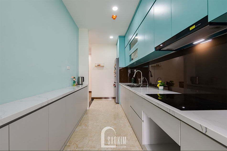 Không gian phòng bếp gọn gàng, ngăn nắp