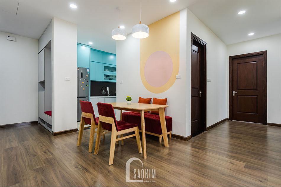 Hoàn thiện thi công phòng ăn căn hộ khu đô thị Nam Trung Yên