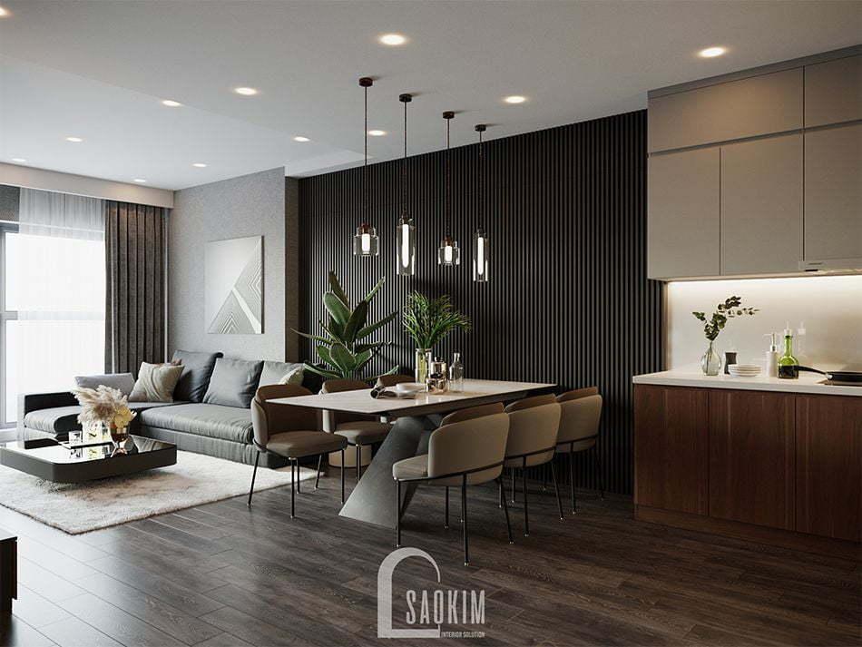 Mẫu thiết kế phòng ăn căn hộ HPC Landmark 105 Tố Hữu