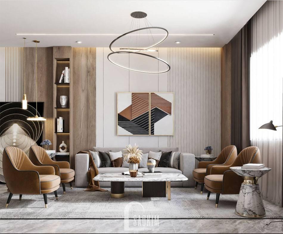 Mẫu thiết kế căn hộ 84m2 chung cư The Zei với phòng cách hiện đại, sang trọng