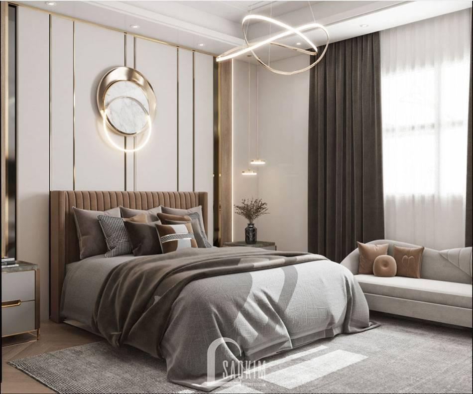 Không gian phòng ngủ Master tươi sáng, tràn đầy ánh sáng