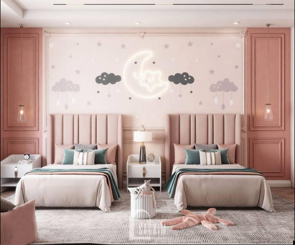 Mẫu thiết kế phòng ngủ cho bé căn hộ 84m2 chung cư The Zei