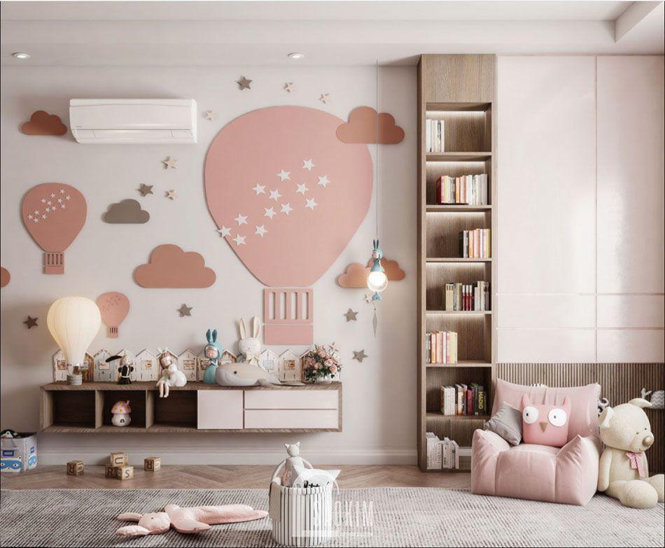 Mẫu thiết kế phòng ngủ căn hộ 84m2 chung cư The Zei