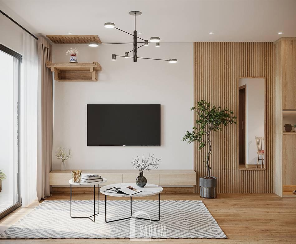 Mẫu thiết kế thi công căn hộ 84m2 chung cư Grand Sài Đồng