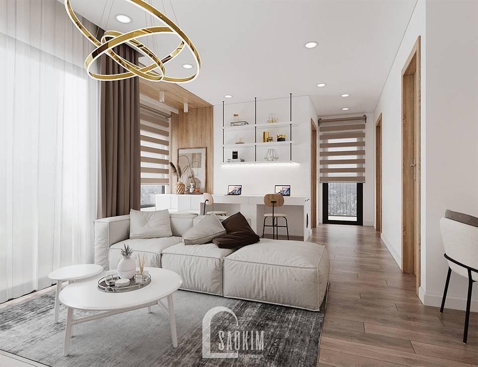 Mẫu thiết kế căn hộ 65m2 chung cư Vinhomes Smart City