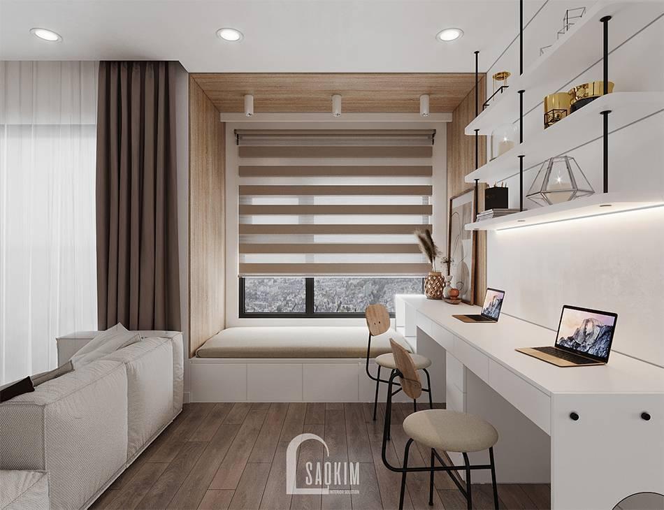 Không gian phòng đa năng trong mẫu thiết kế căn hộ 65m2 chung cư Vinhomes Smart City