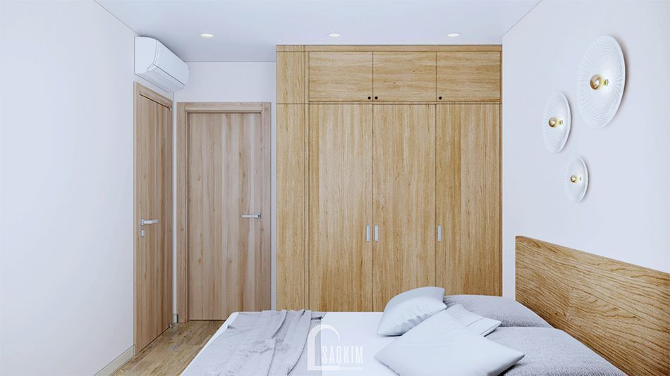 Không gian phòng ngủ 1 ấm cúng và bình yên