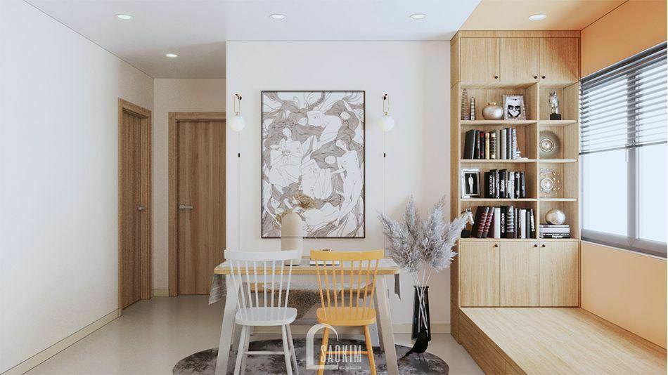 Mẫu thiết kế nội thất phòng ăn căn hộ 70m2 Vinhomes Ocean Park