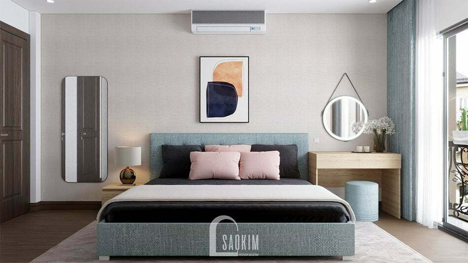 Mẫu thiết kế nội thất nhà phố 3 tầng Long Biên với không gian phòng ngủ sang trọng, thanh lịch
