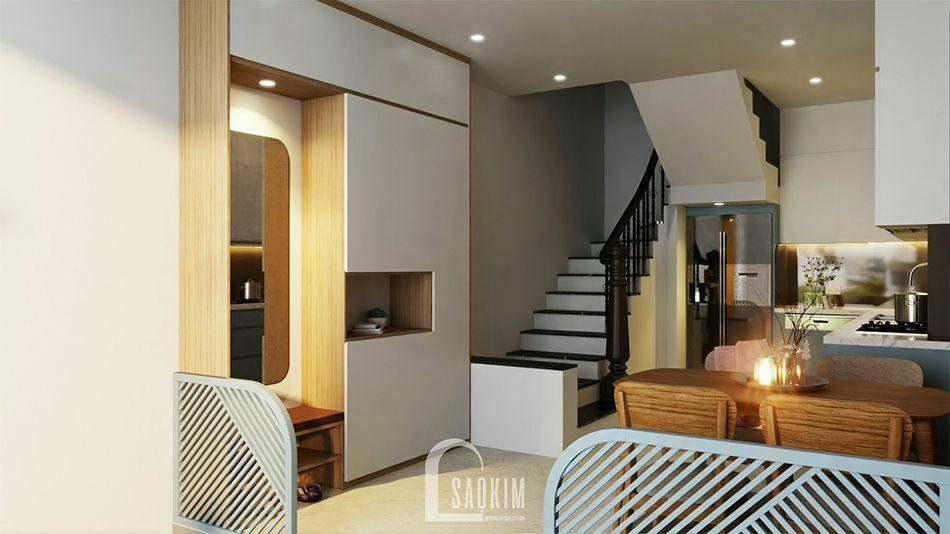 Mẫu thiết kế nội thất nhà phố 3 tầng Long Biên