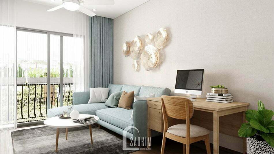 Mẫu thiết kế nội thất phòng khách nhà phố 3 tầng Long Biên