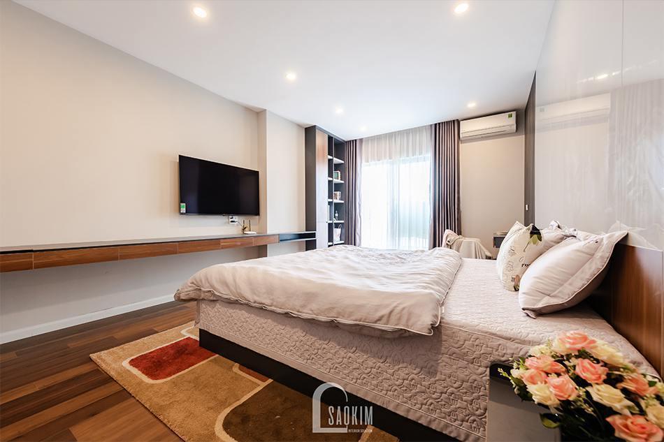 Hoàn thiện thi công nội thất phòng ngủ master chung cư HPC Landmark 105 Tố Hữu