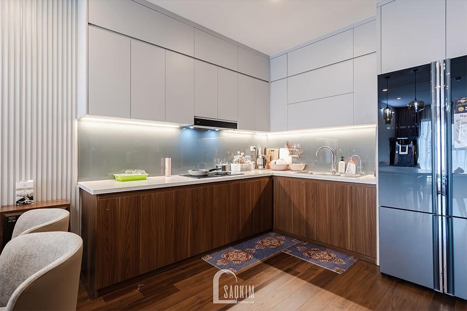 Hoàn thiện thi công nội thất phòng bếp chung cư HPC Landmark 105 Tố Hữu