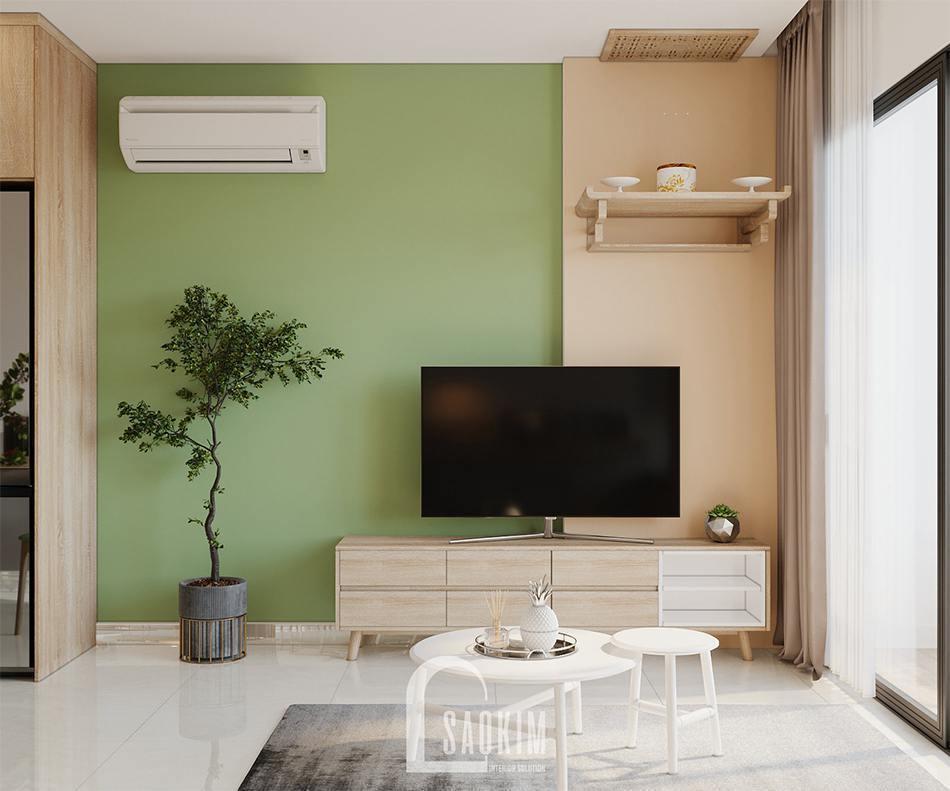 Phòng khách căn hộ Vinhomes Ocean Park 65m2
