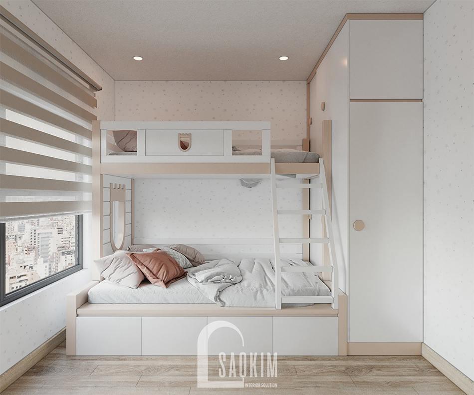 Mẫu thiết kế phòng ngủ cho bé căn hộ 2 phòng ngủ + 1 Vinhomes Ocean Park 65m2