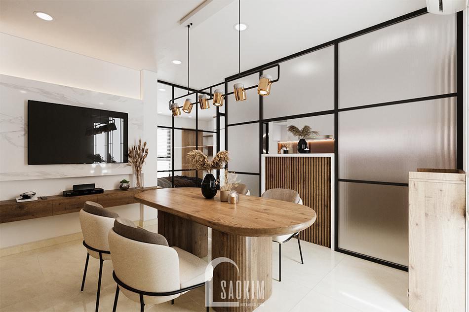 Thiết kế căn hộ studio 45m2 Tây Hồ mang vẻ đẹp sang trọng, ấm cúng