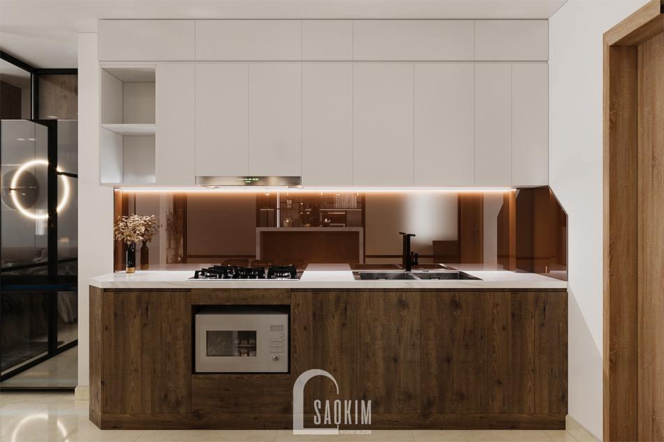 Thiết kế phòng bếp căn hộ studio 45m2
