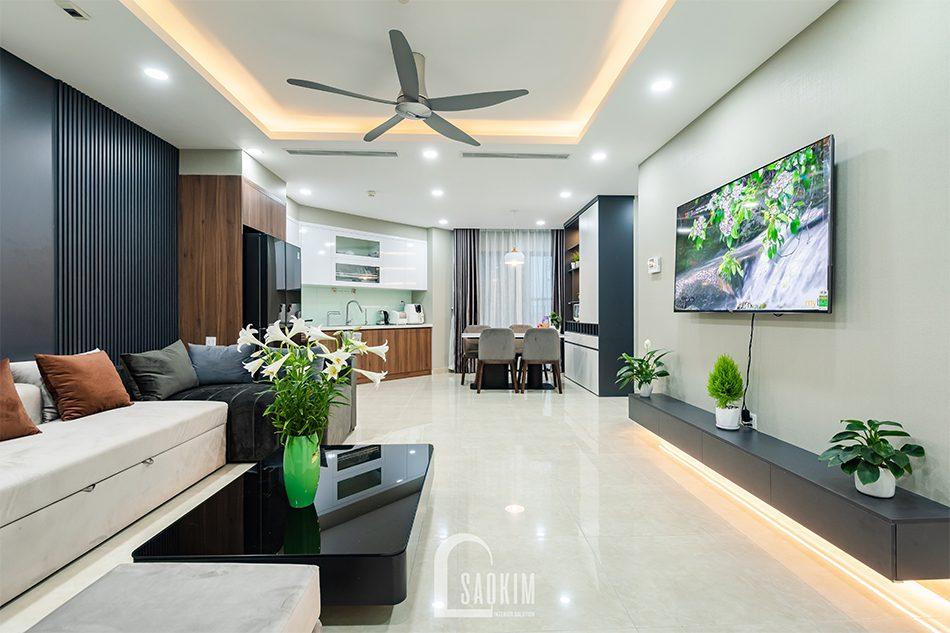Thi công nội thất căn hộ Golden Park mang vẻ đẹp ấm cúng với phong cách hiện đại