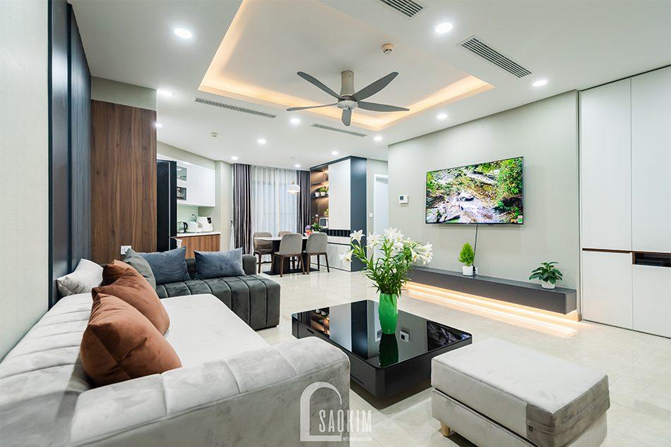 Thi công căn hộ Golden Park mang vẻ đẹp ấm cúng với phong cách hiện đại