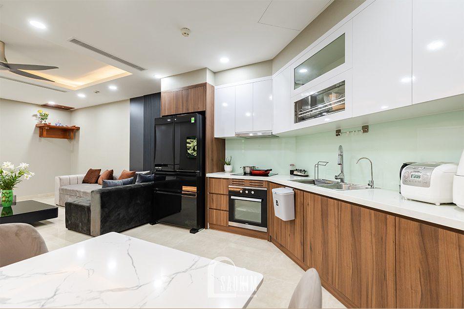 Không gian phòng bếp căn hộ