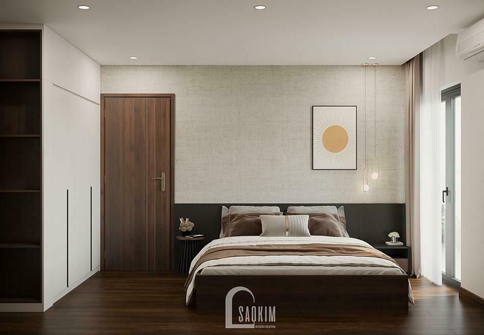 Thiết kế phòng ngủ master chung cư 100m2 3 phòng ngủ Tòa tháp Thiên Niên Kỷ (Hatay Millennium)