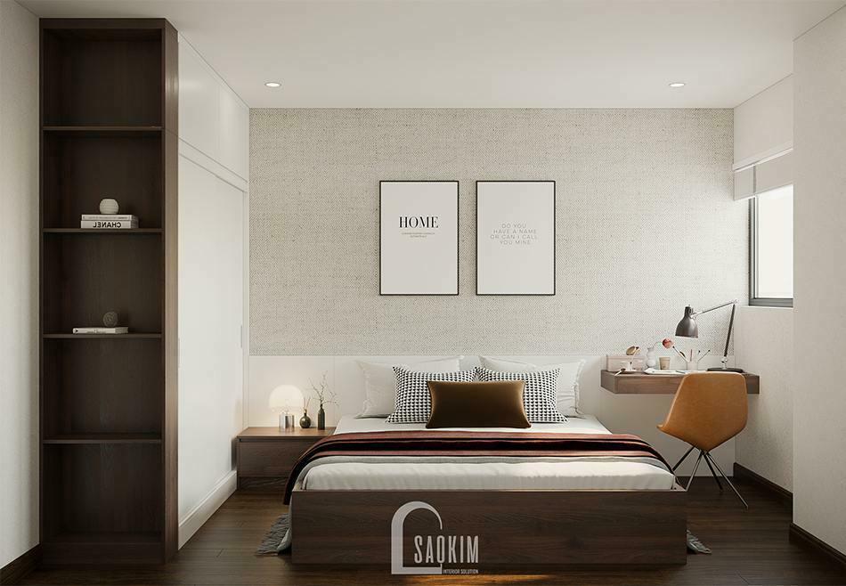 Thiết kế phòng ngủ 2 chung cư 100m2 3 phòng ngủ dự án TSQ