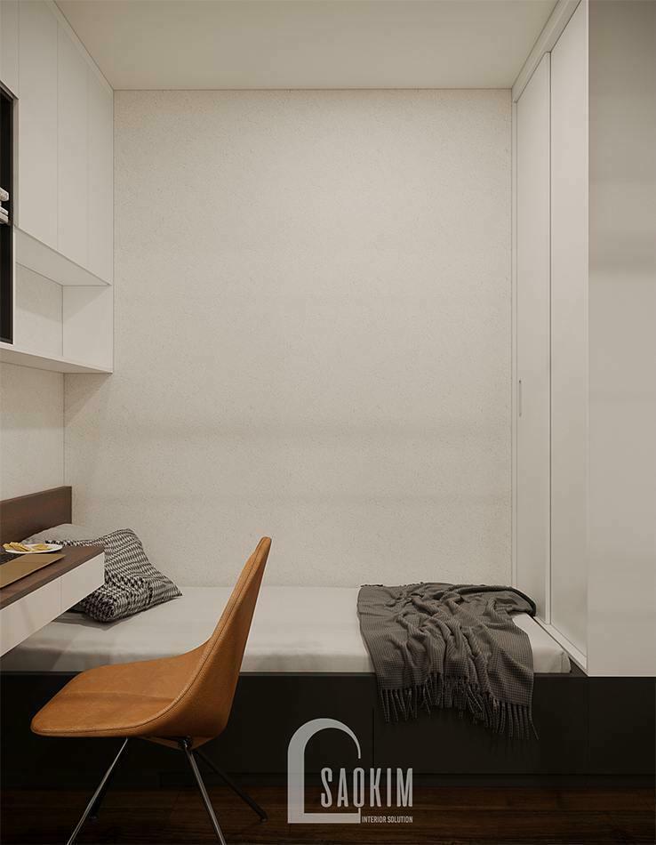 Phòng ngủ nhỏ trong căn hộ